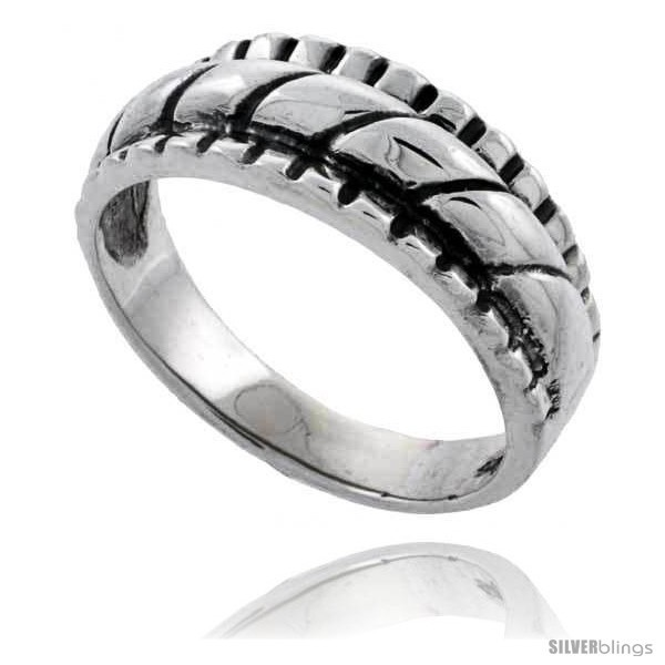 Sterling silver rope design wedding band ring