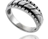 Sterling silver rope design wedding band ring thumb155 crop