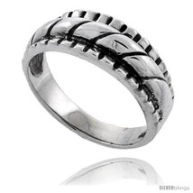 Size 10.5 - Sterling Silver Rope Design Wedding Band  - $27.50