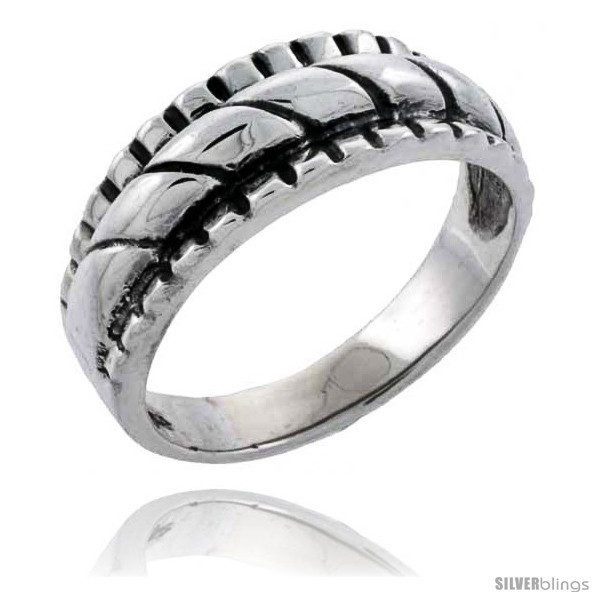 Size 10.5 - Sterling Silver Rope Design Wedding Band