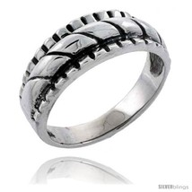 Size 10.5 - Sterling Silver Rope Design Wedding Band  image 2