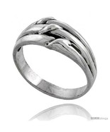Size 6.5 - Sterling Silver Grooved Knot Ring 3/8  - $34.27