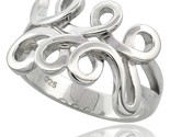Sterling silver spiral pattern ring flawless finish 9 16 in wide thumb155 crop