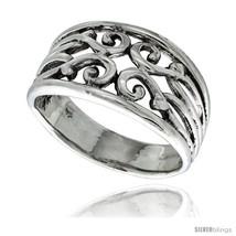 Size 5 - Sterling Silver Swirl Ring 1/2 in  - $27.01