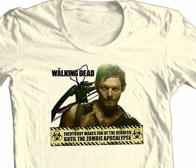 The Walking Dead T shirt Zombie Daryl Dixon comic TV 100% cotton graphic tee