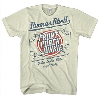 Thomas Rhett T shirt Front Porch Junkie country music 100% cotton graphic tee
