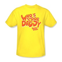 Who's Your Sugar Daddy T shirt yellow 80's 100% cotton graphic tee TR130 image 3