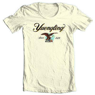 Yuengling Beer T shirt Eagle Logo lager 100% cotton graphic printed tee
