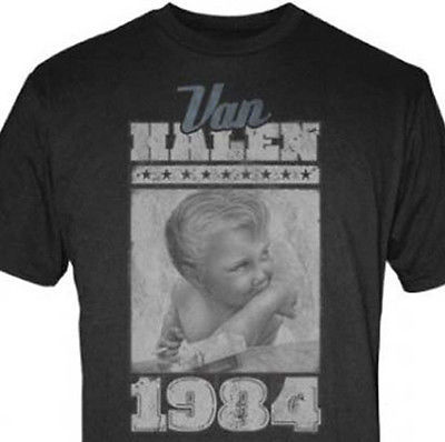 Van Halen 1984 Baby Jumbo Print T Shirt David Lee Roth 80's rock 100% cotton tee