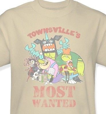 Townsville's Most Wanted T-shirt Power puff mojojojo cartoon graphic cotton tee