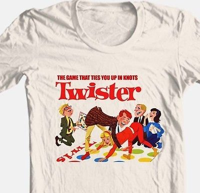 Twister T shirt retro 80's board game vintage toys graphic 100% cotton tee