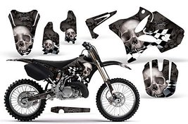 2002-2013 Yamaha YZ 125/250 AMRRACING ATV Graphics Decal Kit-Checkered Skull-... - $158.35