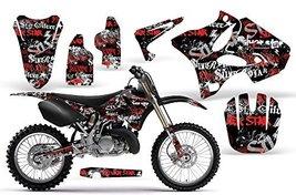 2002-2013 Yamaha YZ 125/250 AMRRACING ATV Graphics Decal Kit-Skulls and Hamme... - $158.35