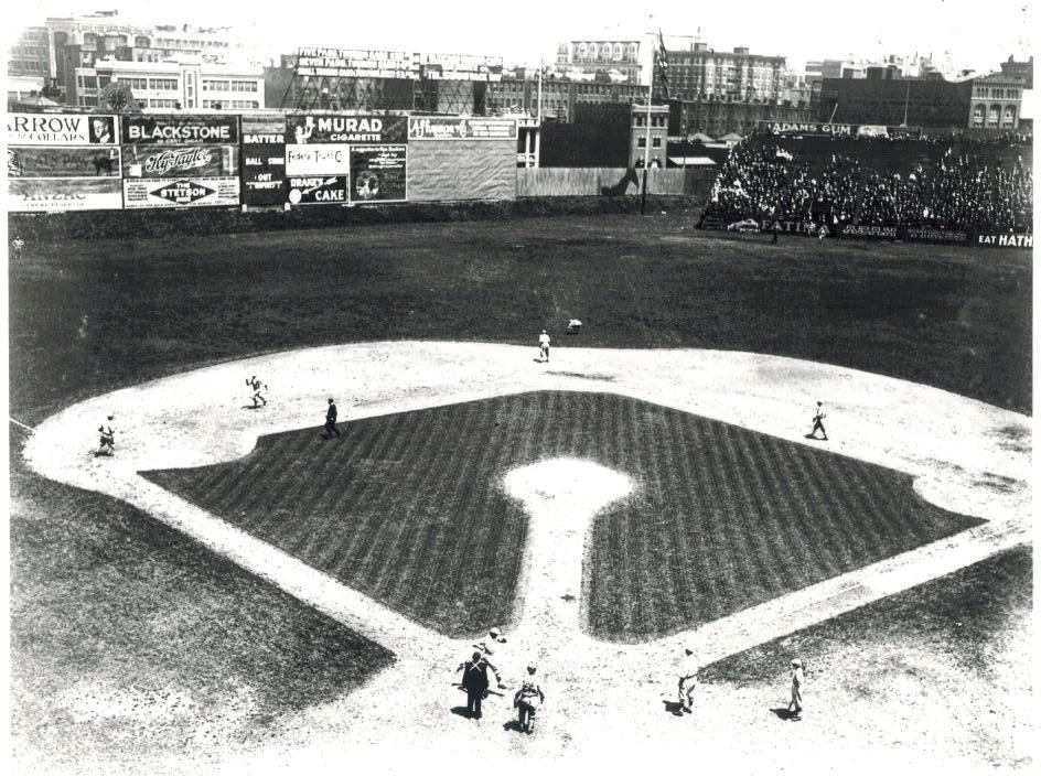 Fenway Park 1917 Boston Red Sox Vintage 28X35  BW Baseball Memorabilia Photo - $45.95