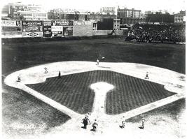 Fenway Park 1917 Boston Red Sox Vintage 28X35  BW Baseball Memorabilia P... - $45.95