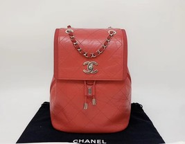 100% AUTHENTIC CHANEL 2018/2019 RED QUILTED CALFSKIN BACKPACK SHW