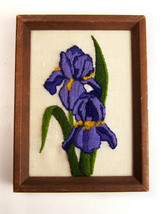 Vtg 1970's Completed Retro Wall Art Embroidery ... - $14.80