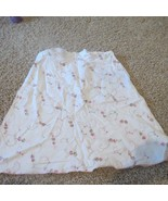 Maurices Studio Y White Floral Linen A Line Skirt 13 14 - $6.79