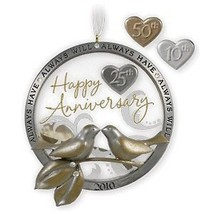 1 X Anniversary Celebration 2010 Hallmark Ornament - $12.82