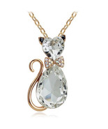 FREE 18K Gold Plated Rhinestone White Crystal C... - $0.00