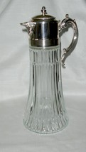 Vintage Godinger Glass And Silver Plate Wine Decanter With Ice Insert - $15.00