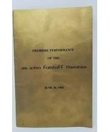 Premiere Performance Sir John Falstaff Playbill 1969 Nobody Loves an Alb... - $13.85