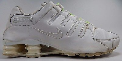 Nike Shox NZ Men's Running Shoes Size 8.5 M (D) EU 42 White 378341-128