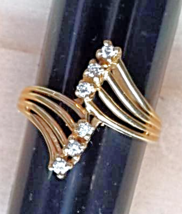 Diamond Strand Ring (0.15 CTW) 14K Gold (New/Unworn)  - $295.00