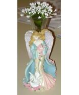 """ANGEL  FLOWER  VASE  -  7"""" TALL - $9.99"""