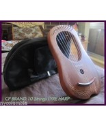 CP BRAND NEW 10 STRINGS LYRE HARP FREE CARRY BAG & SHIP - $146.52