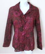 Coldwater Creek Blouse Size PXL 18 Semi Sheer R... - $18.00