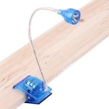 Mini Led Clip Lamp Adjustable Bright Book Reading Light Color Table Flex... - $5.89