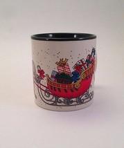 Vintage Marvelous Mugs by Potpourri Press 1987 Christmas Horse Sleigh Ko... - $24.18