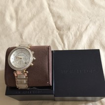 Nwt Michael Kors Chronograph Parker Horn Acetate And Gold Tone Watch Mk5632 - $159.00