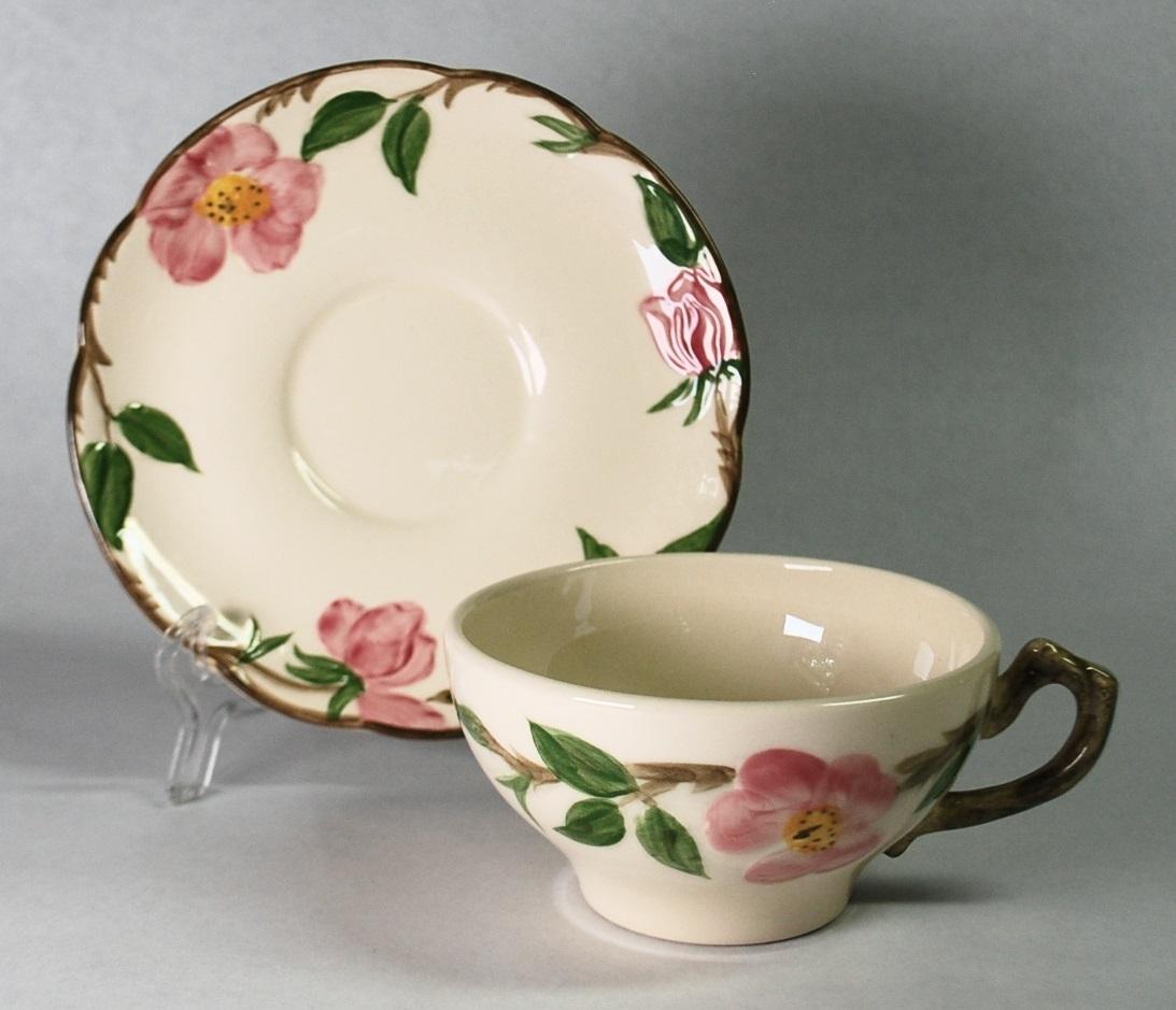 Franciscan desert rose cup saucer apart