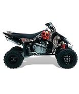 AMR Racing Suzuki LTR 450 2005-2011 ATV Quad Graphic Kit -Checkered Skul... - $158.35