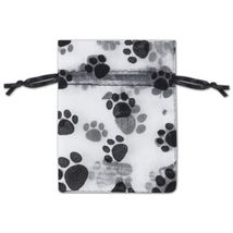 Paw Print Organdy Bags - Size Choice - $7.00+