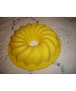 Yellow Silicone Bundt Cake Pan - $10.00