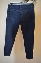 Joe's Jeans Button Ankle Cigarette Skinny Reed Wash Dark Blue Black 33W 28L - $26.95