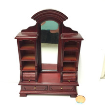 TownSquare Mahogany WARDROBE CHEST in Miniature Dollhouse Scale 1:12 - $28.68
