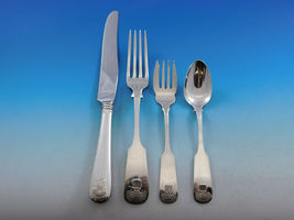 Sheaf of Wheat by Durgin Gorham Sterling Silver Flatware Set Service 59pc Dinner image 3
