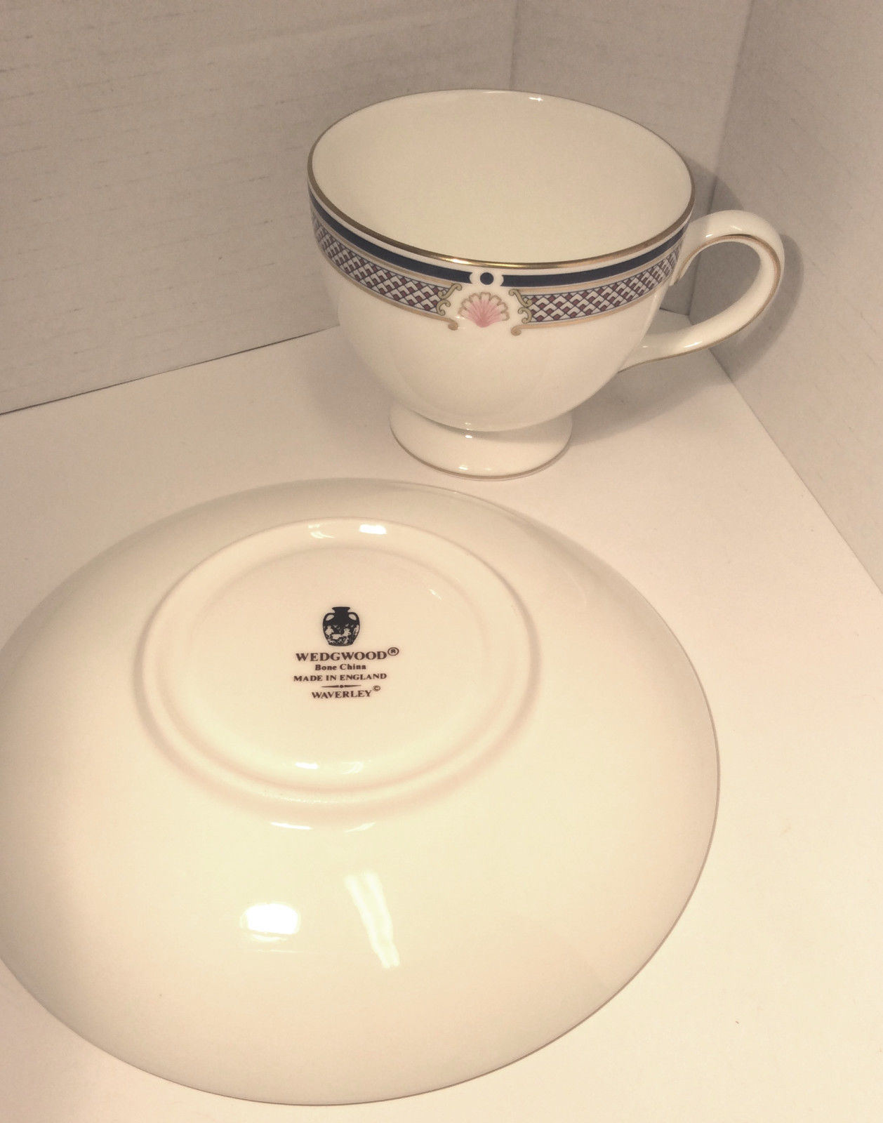 Wedgwood Waverley China TEA CUP & SAUCER, Excellent conditon - Nice Gift