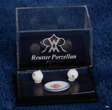 Reutter Porcelain Salt And Pepper Plus Plate Dollhouse Miniature Scale 1:12 Nib - $11.89