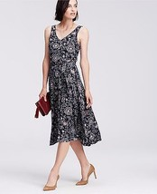 Ann Taylor Paisley Print Belted Jersey Midi Dress, size S, NWT - $60.00