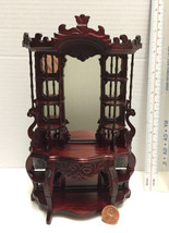 Miniature Ornate Victorian Etagere CABINET in Dollhouse Scale1:12 -Fine ... - $59.96