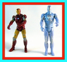 Iron Man   Set *2 Iron Man Action Figures ,Collector's Figures ,High Quality - $22.47