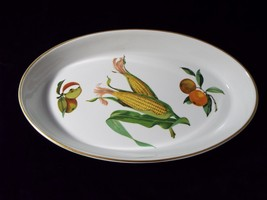 Royal Worcester 14 Inch Oval Bake Dish England Back Stamp Evesham Gold Porcelain - $39.99