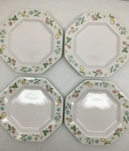 Independence Ironstone by Interpace Old Orchard Japan Set of 4 Dessert P... - $37.50