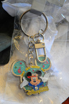 Disney My First Visit To Disneyland Hong Kong Mickey Mouse Blue Ears Key Chain - $24.50
