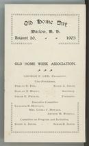 1903 Marlow NH Old Home Day celebration program ephemera paper antique v... - $14.00